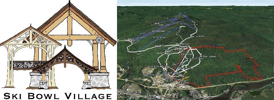 Ski Bowl Village logo and map