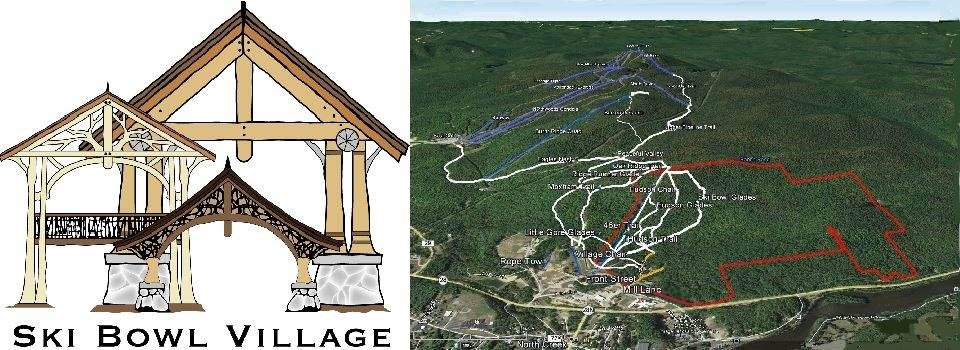Ski Bowl Village Logo and site map